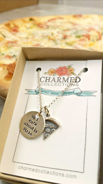 Pizza Necklace | All I Care About Is Pizza