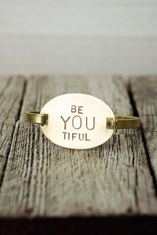 BeYOUtiful Brass Bracelet