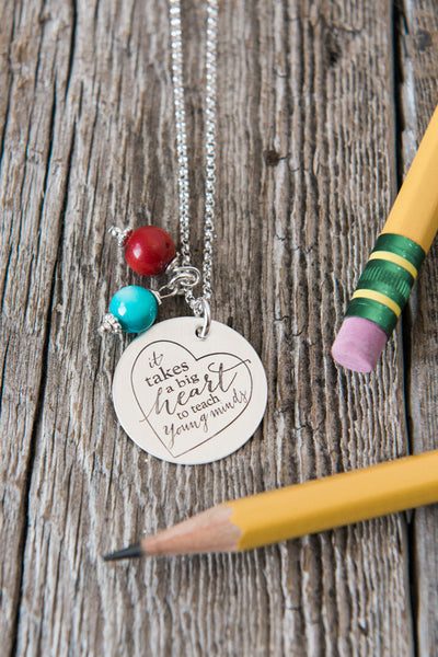 Big Heart Teacher Necklace