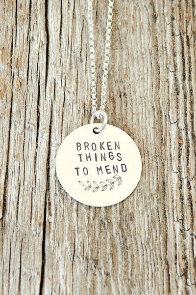 Broken Things To Mend Necklace
