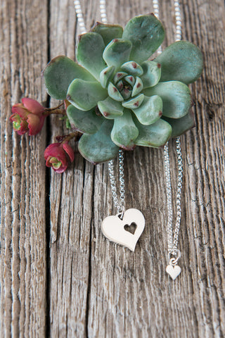 Piece of My Heart Silver Necklace Gift Set