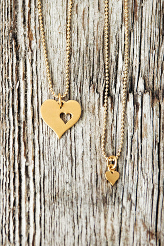 Piece of My Heart Gold Necklace Gift Set