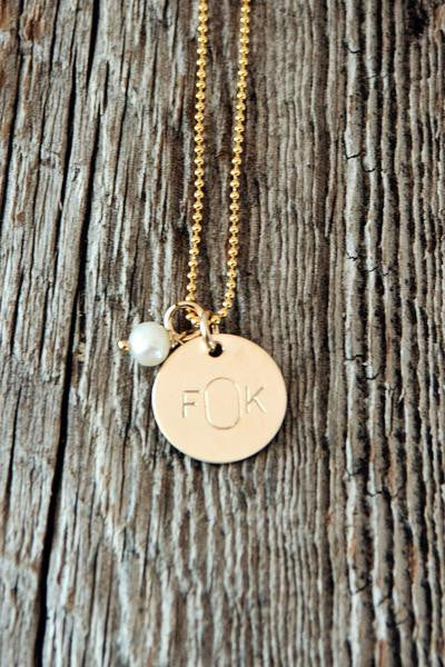 Monogram Initial Necklace in Silver and Gold