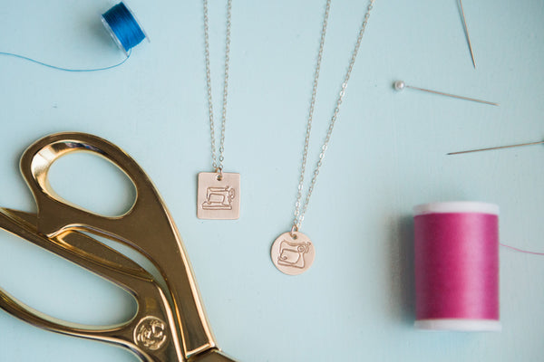 Sewing Machine Charm Necklace