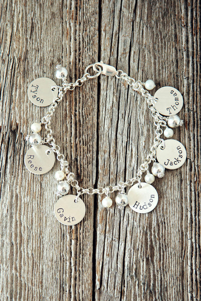 Name Charm Bracelet for Grandma and Mom