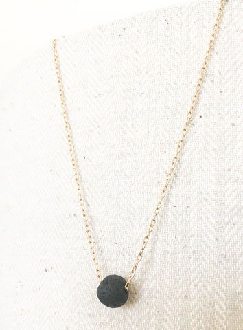 Diffuser Necklace For Essential Oils With Lava Bead