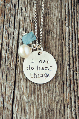 I Can Do Hard Things Necklaces