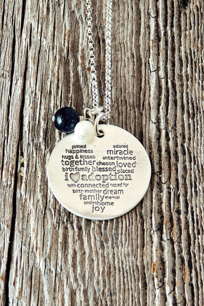 I Love Adoption Necklace