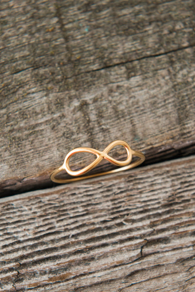 Infinity Ring // Sterling Silver & 24K Gold