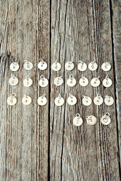 Tiny Monogram Initial Charm ONLY