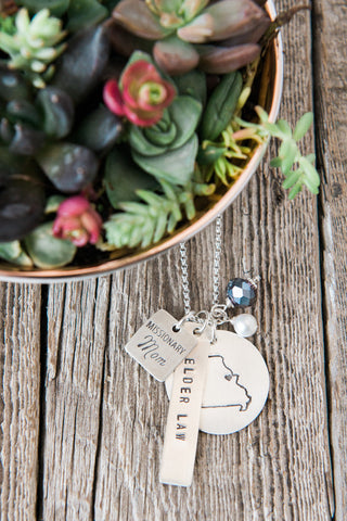 Missionary Mom Missionary Map Necklace