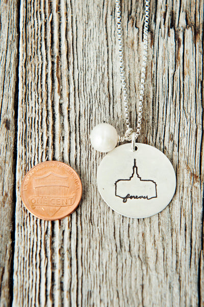 Mount Timpanogos LDS Temple Necklace