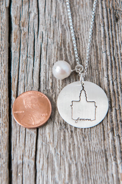 Nauvoo Illinois LDS Temple Necklace