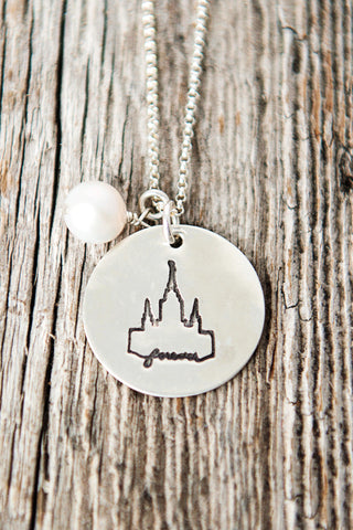 Oakland California LDS Temple Necklace