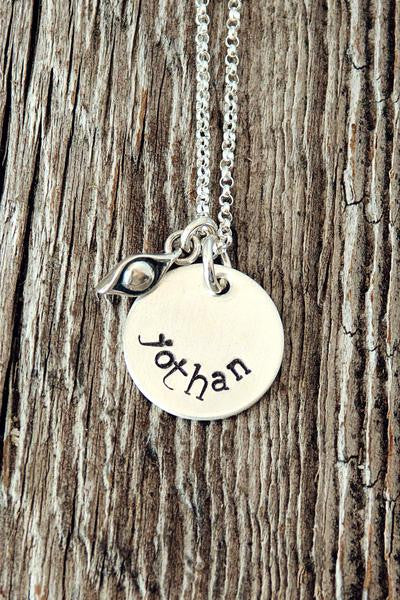Pea in the Pod Charm | Pea Pod Mother's Necklace