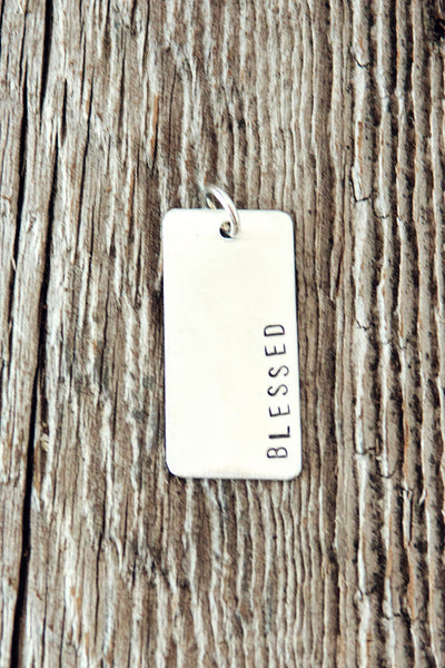 Sterling Silver Large Rectangle Charm