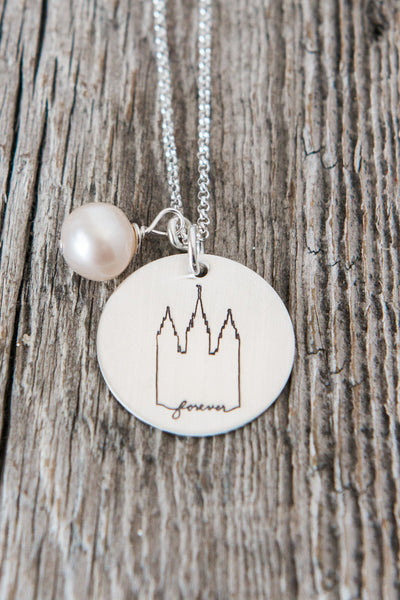 Salt Lake City Utah LDS Temple Necklace