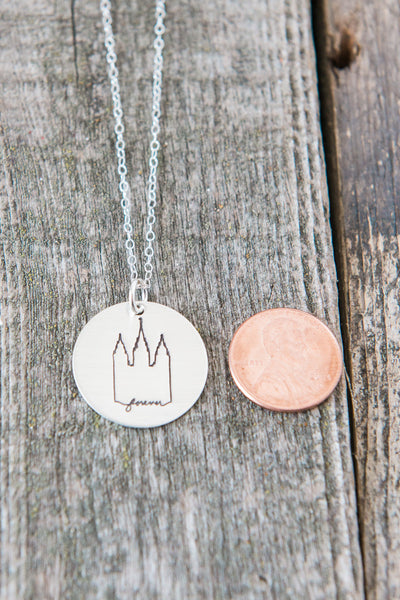 Salt Lake Temple Charm Necklace