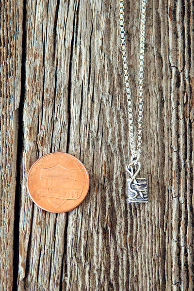 Spool of Thread Charm Necklace