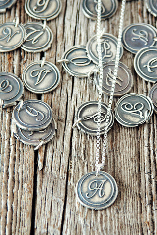 Wax Seal Monogram Necklace