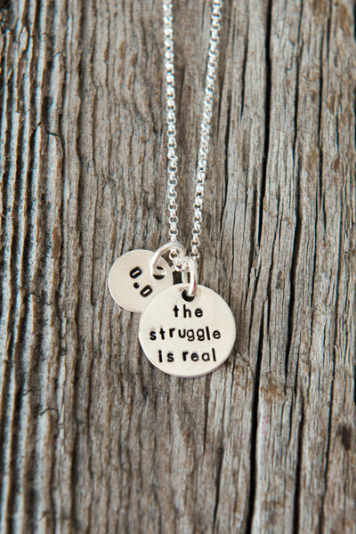 The Struggle is Real Running Necklace