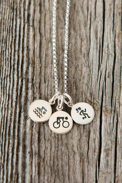 Tri Three Charm Necklace