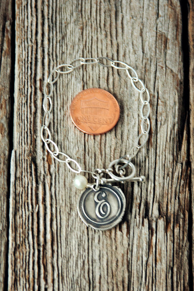 Wax Seal Monogram Bracelet