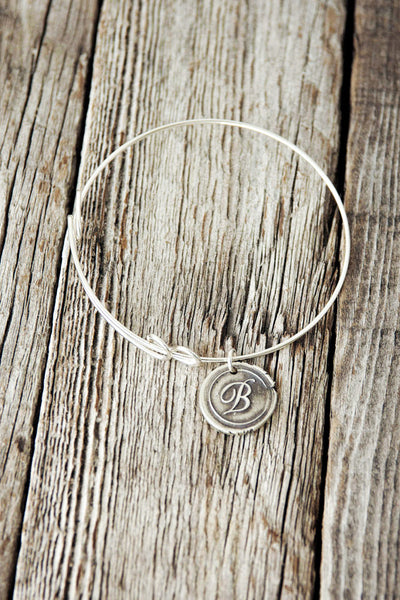 Bangle + Wax Seal Charm