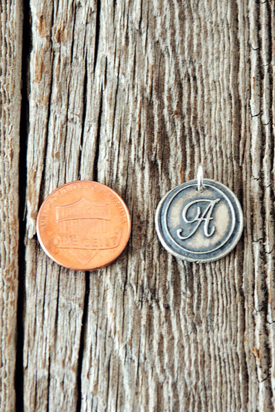 Wax Seal Monogram Initial Charm