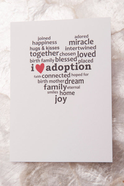 I Heart Adoption Card