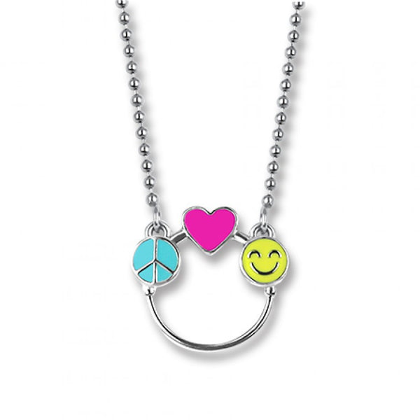 CHARM IT! Peace, Love & Happiness Charm Catcher Necklace