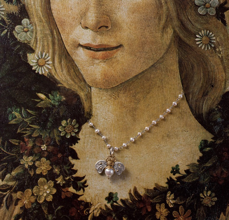 Flora appears courtesy of Botticelli's Primavera (Allegory of Spring)