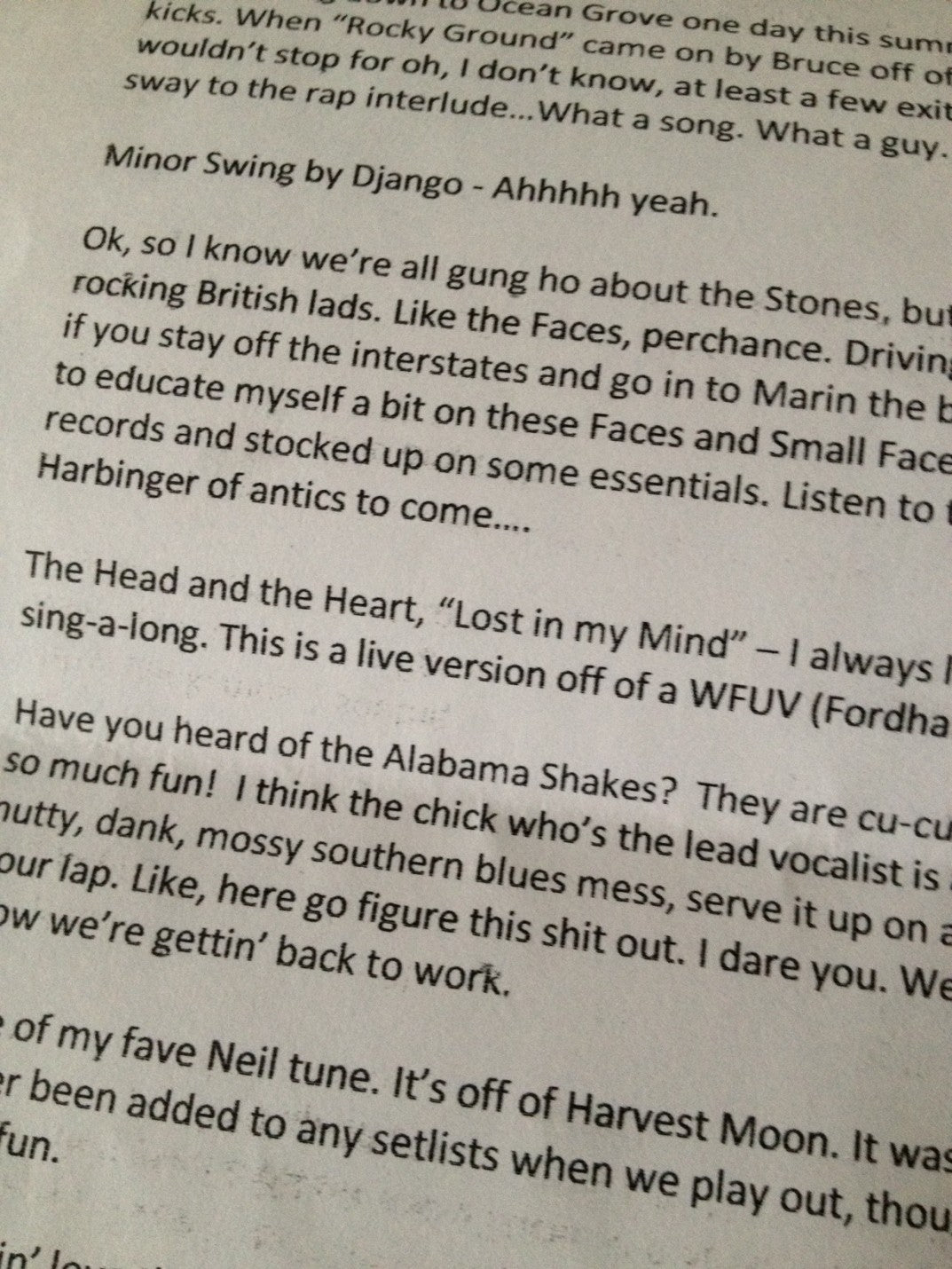 The gift: Amy's liner notes