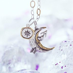 Archer Moon and Wandering Star Necklace