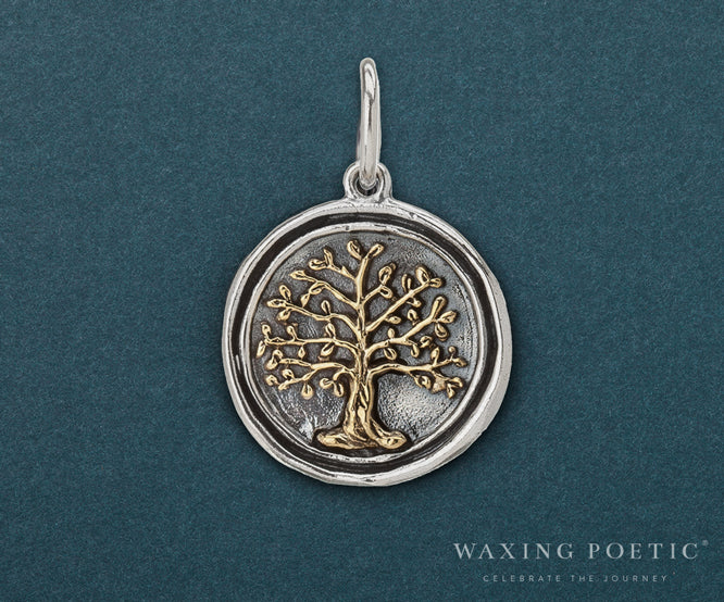 Wing and a prayer tree of life charm