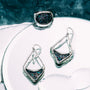 Kristal Kite Diamond Earrings - Sterling Silver & Kristal Crystals