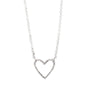 Gift Set: Ever Open Heart Necklace - Sterling Silver - 16""