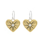 Guided by Heart Compass Drop Earrings - Small