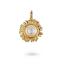 Golden Moon Daisy Charm - Freshwater Pearl & 18K Gold Plated