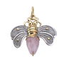 Bee Brave Pendant- Rose Quartz