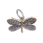 * Natural Beauties Charm - Sterling Silver, Brass & CZ Crystals - Dragonfly *