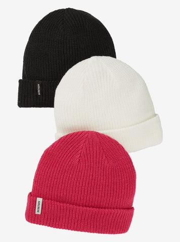 Burton | DND 3 Pack Beanie | 2021 | Black / Stout White / Punchy Pink