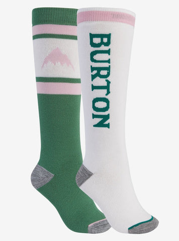 Burton | Weekend Midweight Two Pack Socks | Womens | 2021 | Spruce / Stout White