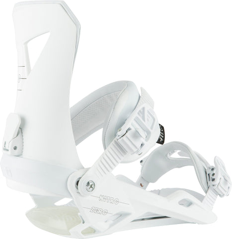 Nitro | Zero Snowboard Bindings | Mens | 2021 | White