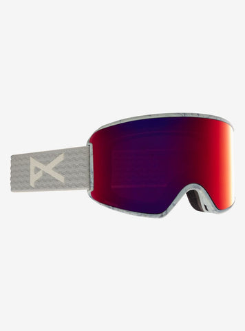 Anon | WM3 Goggles MFI Face Mask & Spare Lens Womens | 2021 | Grey / Perceive Sunny Red Lens