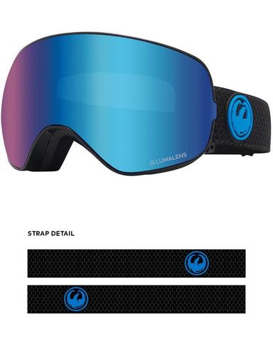 Dragon | X2S Snow Goggles | 2021 | Split / Lumalens Blue Ion + Spare Lens