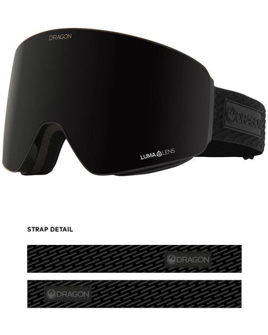 Dragon | PXV Snow Goggles | 2021 | Midnight / Lumalens Midnight + Spare Lens