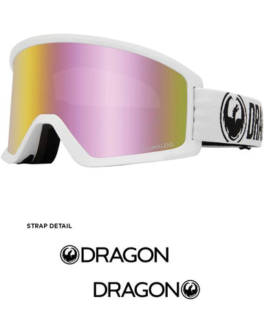 Dragon | DX3 OTG Goggles | 2021 | White / Lumalens Pink Ion