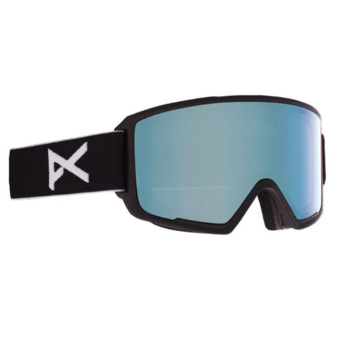 Anon | M3 Goggles MFI Face mask & Spare Lens | Mens | Asian Fit | 2021 | Black / Perceive Variable Blue Lens