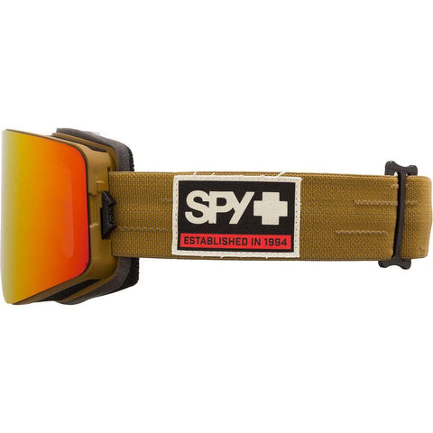 Spy | Marauder Goggles 2021 | Never Summer HD Plus Bronze with Red Spectra Mirror + Spare Lens